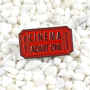 Jewelry - Cinema Movie Ticket Enamel Pin